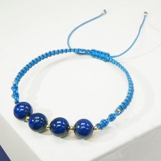 Edith & Jaz • Lapis with Blue Cord Bracelet