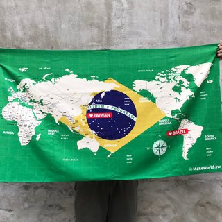 Make World Map Manufacture of Sports Bath Towels (Brazil)