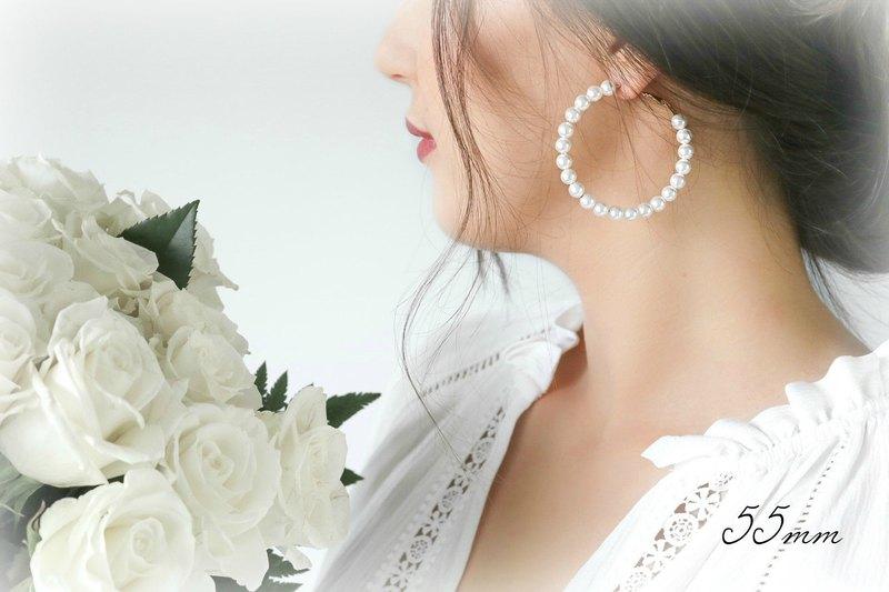 婚嫁幸福團圓珍珠耳環