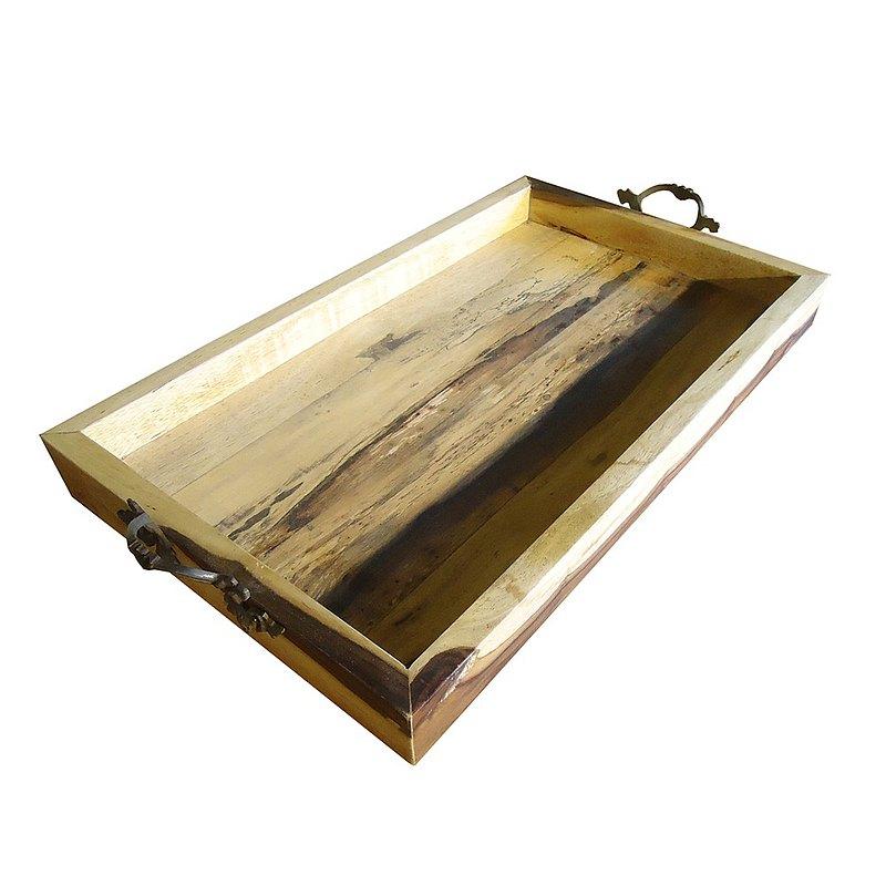 【吉迪市柚木家具】銅把手原木托盤 LT-083A 實木托盤 茶盤