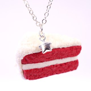 *Playful Design* Red Velvet Cake Necklace
