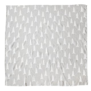 Organic cotton gauze wrap (Forest – Grey bottom) – GRAN MUSLIN BLANKET – Grey