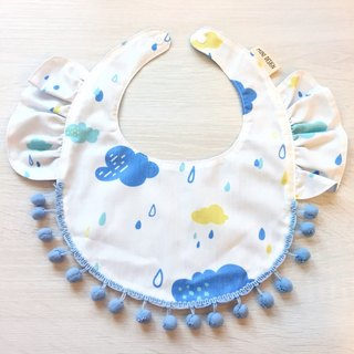 Lotus leaf bib (rainy clouds)