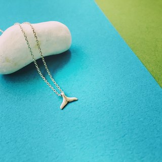 925 sterling silver [Whale Tail Necklace]