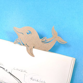 MARK TAIWAN Mai Mai Zoo - Bottlenose Dolphin (Paper Bookmark)