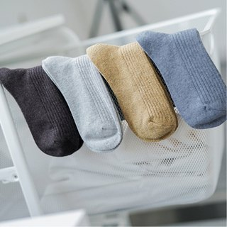 Six-color warm solid color wool blended tube socks, wool socks, a warm foot in winter