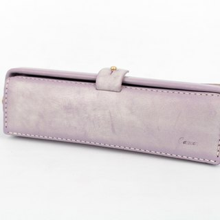 MOOS American Retro Doctor Gold Pack Leather Pen Box (Lavender Color)