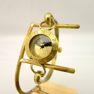 "手作り時計 HandCraftWatch ""Brass Armlet3-S&M"" Lady's Brass Sun&Moon [289M-S&M]"