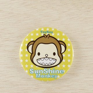 ToyKey toys ► Sunshine Monkey Monkey shining badge 26 ◄