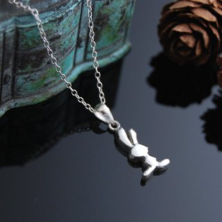 Jumping rabbit (silver necklace)