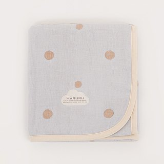 MARURU Five-layer gauze baby blanket  (M) Baby blue (Made in Japan)