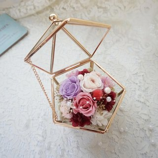 Not withered. Eternal flowers romantic glass house*exchange gift*Valentine's Day*wedding*birthday gift