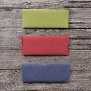 Washed kraft paper long clip _ bright and bright color