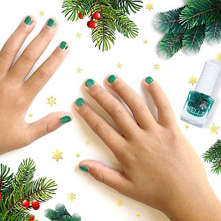 British [Miss Nella] children's water-based tear-proof safety nail polish - dark green spring (MN23)