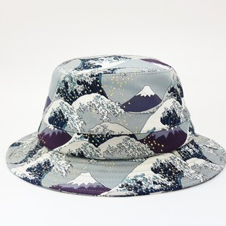 English Disc Gentleman Hat - Ukiyoe Mt. Fuji Mix Wave (Wild Gray) #情人节