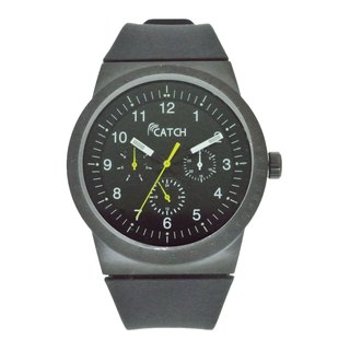 Type black multi-function watch