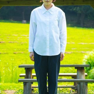 白色女用襯衫 LADIES SHIRT LIKE MENS bansyuori