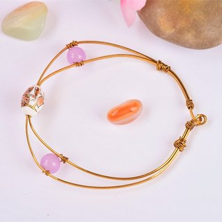 [Powder] brass bracelet love wishing Valentine's gift