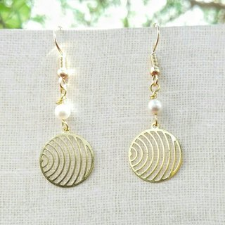 Water pattern hand made draping beaded earrings can be changed ear clip