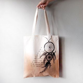 Dreamcatcher \ Indian canvas hand dyed tote bag single back