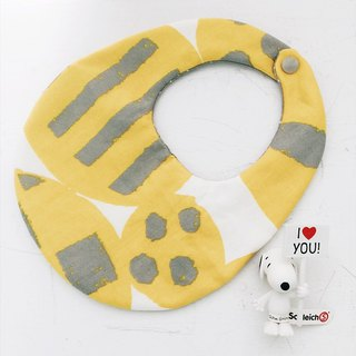 Hairmo Nordic handmade baby bib / saliva towel - round version (yellow)