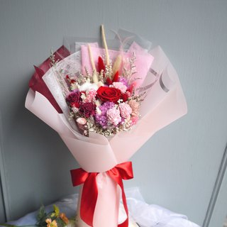 Vernal Equinox - Unruffled rose pink rose bouquet (stand) Mother's Day