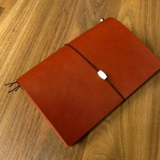 Leather Notebook A6 Size US W & C Canopy (chestnut color) Handmade NBA601601