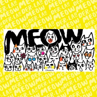 "Wanying Hsu long postcard ""MEOW FAMILY"""