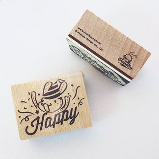 """Foufou x micia"" Wood stamp - Happy Party"