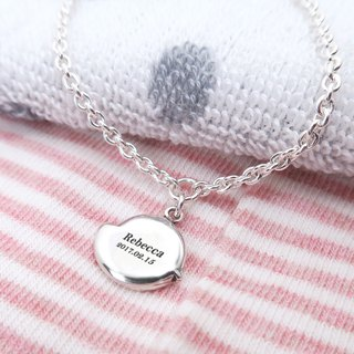 咕咕小鸡- lettering 925 sterling silver children's bracelet parent-child silver ornaments