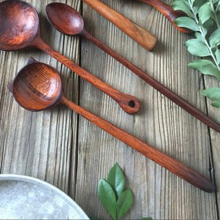 Hand made rosewood cat wooden spoon