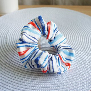 Lovely【Nippon Cloth】Crayon Hair Tie, Colon Hair Tie, Doughnut Hair Tie【Blue Tangerine】