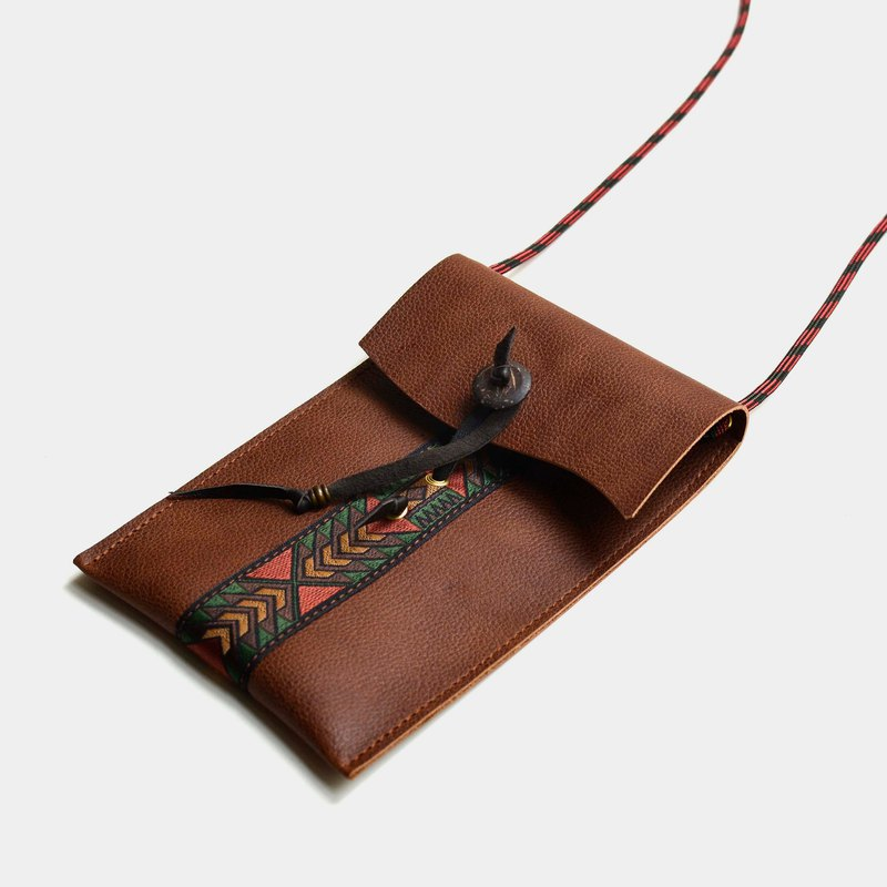 [Maya's Flying Pigeon Book] Leather Phone Bag Brown Leather Phone Case IPHONE