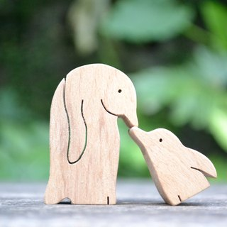 Crying love with the way the little penguin ★ handmade wood