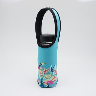 BLR Water Bottle Tote  BRAIN CANDY [ Tropical bird ] TC44