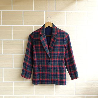 │Slow│ College Mad Plaid -. │vintage vintage coat cute retro Art Institute of wind in Japan....