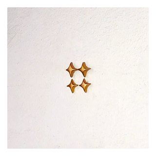 Super mini cute little stars 14k gold simple hypoallergenic hand made sterling silver earrings earrings autumn and winter Christmas gifts