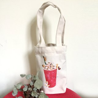 Zoe's Forest Little Hedgehog and A Chai drink green cup bag canvas bag New Year red pass version