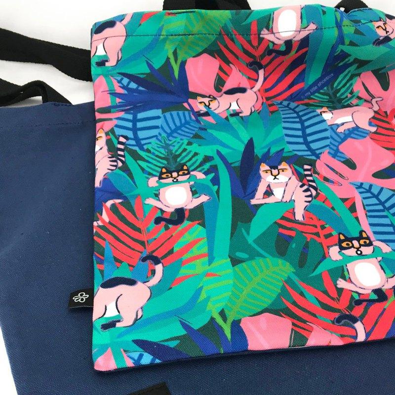 森林貓帆布袋 單肩包 托特包
