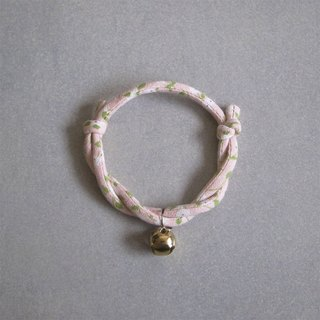 Japanese dog collar & cat collar【Nordic Cloth Adjustable】Peach_S size