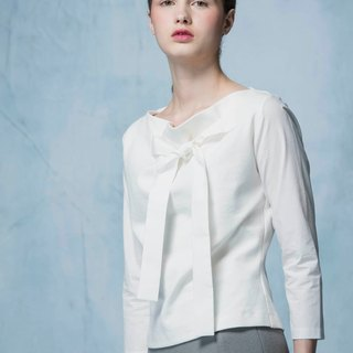 YUWEN white chest strap top
