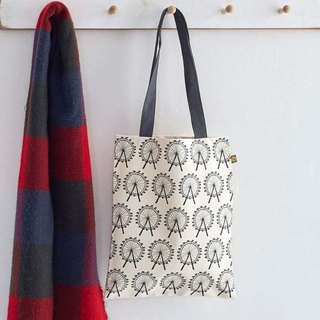 British egg canvas bag London Eye
