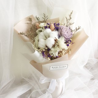 Two-color temperament dry flower / dry bouquet / birthday / Valentine's Day / graduation bouquet