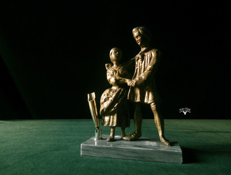 【老時光 OLD-TIME】早期歐洲銅件擺飾筆座
