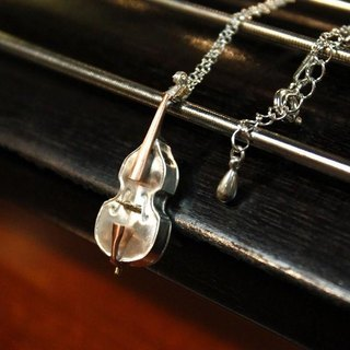 Musicians Contrabass Necklace sv.ver