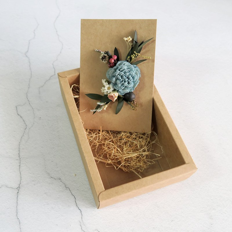 Dry flower card diffused flower card gift box