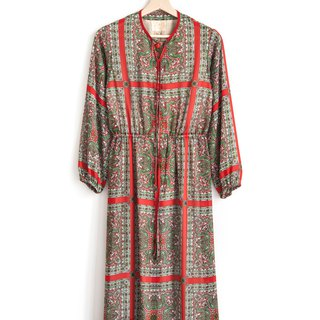 Vintage court-style amoeba vintage long-sleeved dress