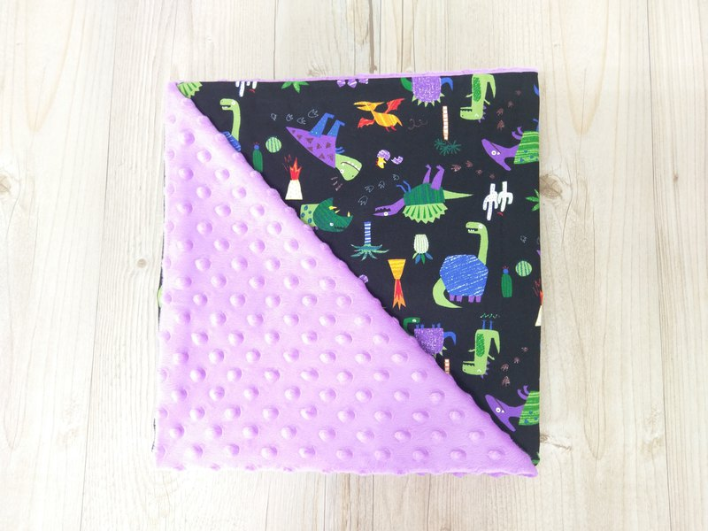 Colorful Bean Bean Blanket - Purple Dinosaur