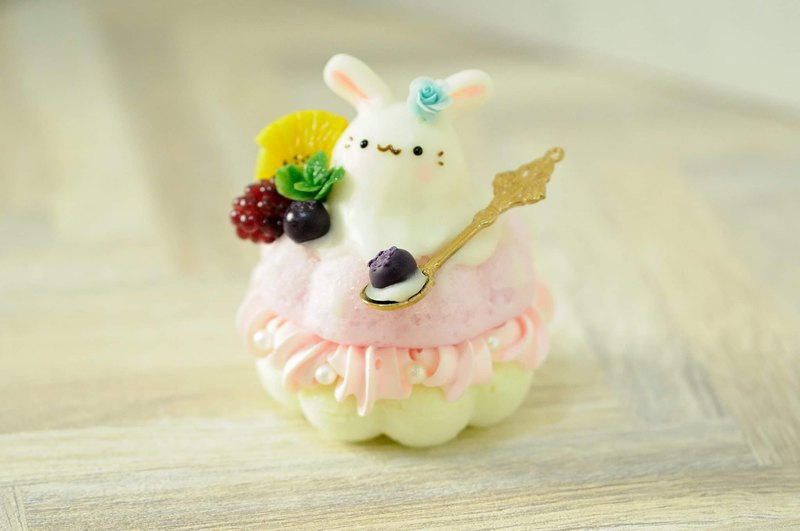 澎松松: QQ ice cream bunny donut tower / birthday ceremony / graduation ceremony / pure ornaments