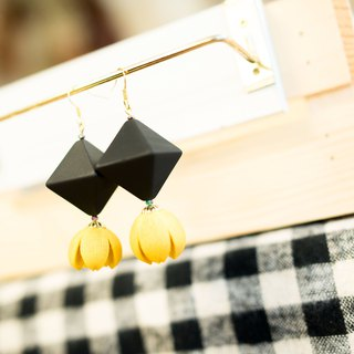 Shenlou [Bumblebee color matching x pistachio] fruit earrings | autumn new style